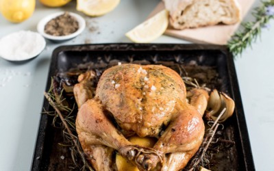 Roast Chicken with Lemon & Herbs