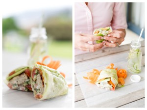 Chicken Lettuce Wrap with a Coriander Yoghurt Dressing